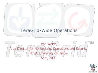 TeraGrid-Wide Operations