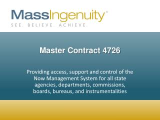 Master Contract 4726