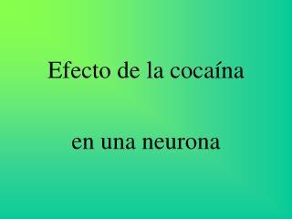 Efecto de la cocaína