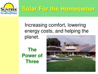 Solar For the Homeowner