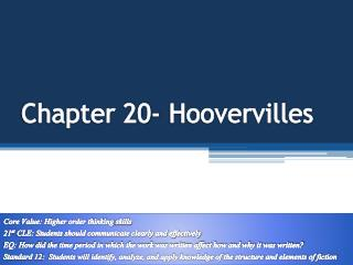 Chapter 20- Hoovervilles