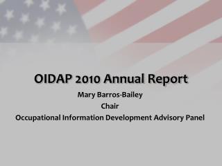 OIDAP 2010 Annual Report