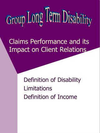 Claims Performance and its Impact on Client Relations