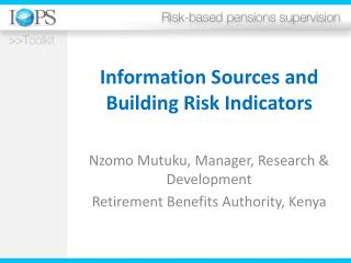 Information Sources and Building Risk Indicators