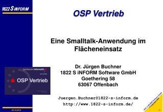 OSP Vertrieb