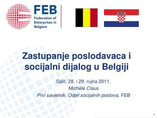 Zastupanje poslodavaca i socijalni dijalog u Belgiji