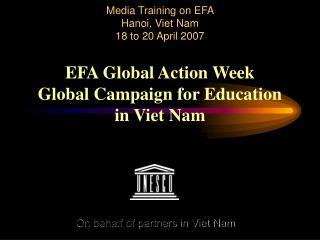 On behalf of partners in Viet Nam