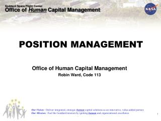 Office of Human Capital Management Robin Ward, Code 113