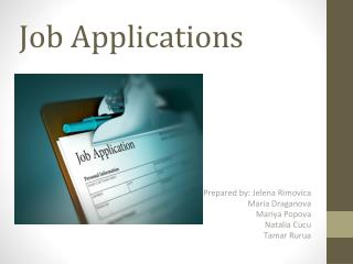 Job Applications