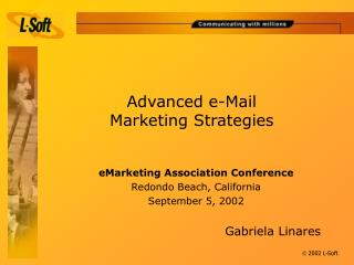 Advanced e-Mail  Marketing Strategies