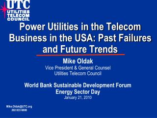 Power Utilities in the Telecom Business in the USA: Past Failures and Future Trends