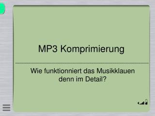 MP3 Komprimierung
