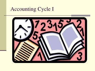 Accounting Cycle I