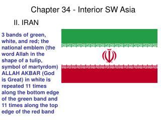 Chapter 34 Sec II