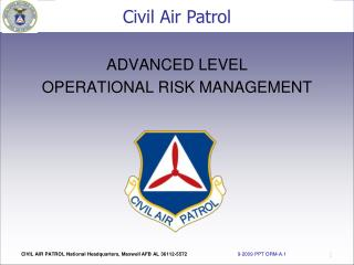 ADVANCED LEVEL OPERATIONAL RISK MANAGEMENT