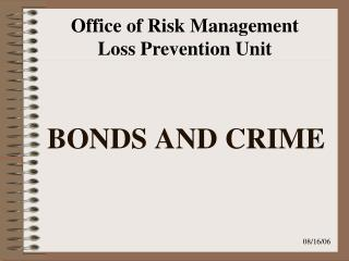 BONDS AND CRIME
