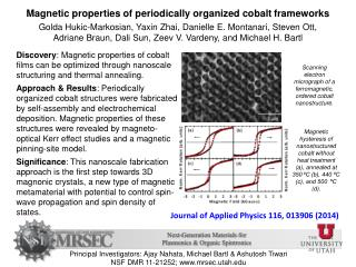 Journal of Applied Physics 116, 013906(2014 )