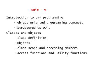 Introduction to c++ programming     - object oriented programming concepts
