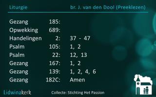 Liturgie br. J. van den Dool (Preeklezen)