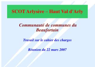 SCOT Arlys re   Haut Val dArly