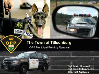 The Town of Tillsonburg