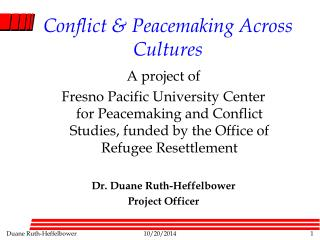 Conflict & Peacemaking Across Cultures