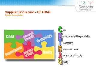 Supplier Scorecard - CETRAQ Supplier Communication