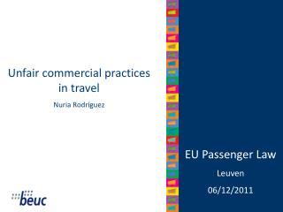 EU Passenger Law Leuven 06/12/2011