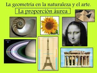 La geometr�a en la naturaleza y el arte. La proporci�n �urea