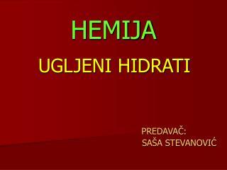 HEMIJA