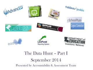 The Data Hunt � Part I September  2014 Presented by Accountability & Assessment Team