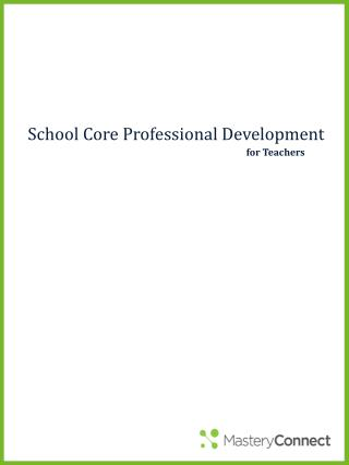 School Core Professional Development