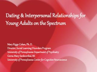 Mary Riggs Cohen, Ph. D. Director, Social Learning Disorders Program