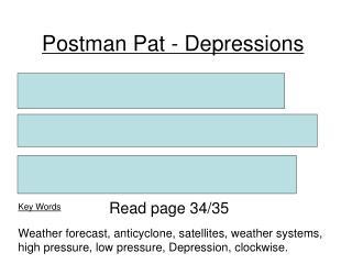 Postman Pat - Depressions