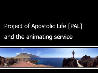 Project of Apostolic Life [PAL]  and the animating service
