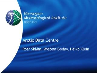 Arctic Data Centre