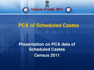 PCA of Scheduled Castes
