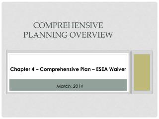 Comprehensive Planning OVERVIEW