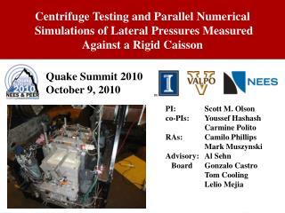 Quake Summit 2010  October 9, 2010