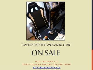 Canadas Best Office and Gaming Chair on SALE at Blue Tag Off