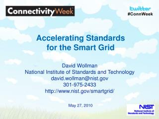Accelerating Standards  for the Smart Grid