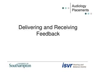 Delivering and Receiving Feedback