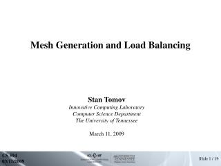 Mesh Generation and Load Balancing