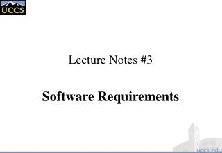Lecture Notes #3