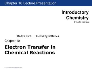 Electron Transfer in  Chemical Reactions