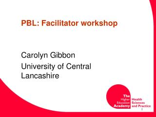 PBL: Facilitator workshop