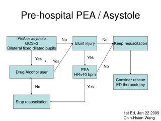 Pre-hospital PEA / Asystole