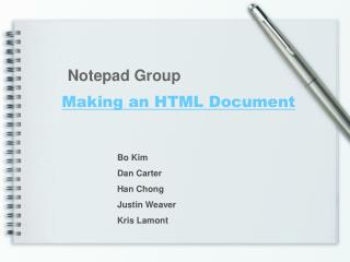 Making an HTML Document