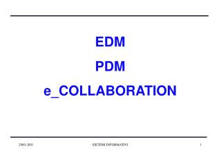EDM PDM e_COLLABORATION