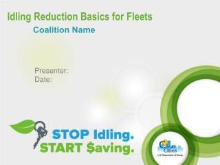 Idling Reduction Basics for Fleets
